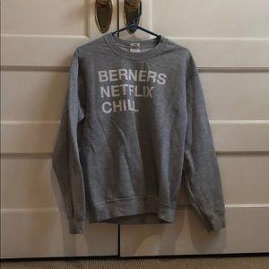 Gray 'Netflix and Chill' Sweatshirt